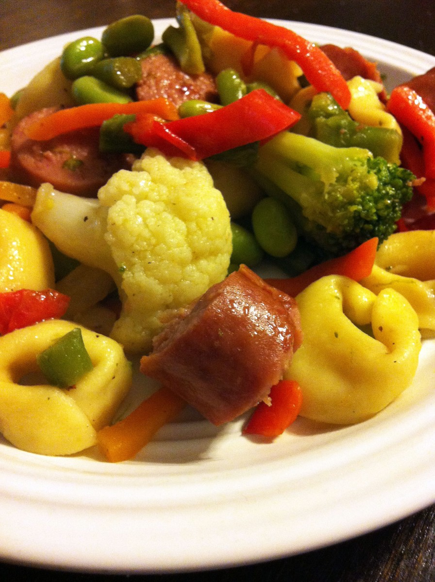 quick and easy dinner sausage with tortellini coers family. Black Bedroom Furniture Sets. Home Design Ideas
