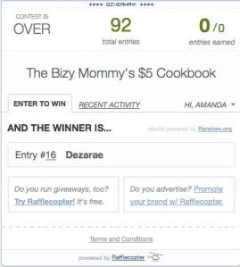 cookbook winner