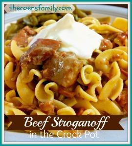 Beef Stroganoff In The Crock Pot
