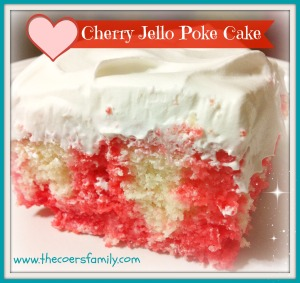 Cherry Jello Poke Cake